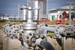 Industrial pipeline Stock Photos