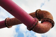 Industrial pipeline Royalty Free Stock Photo