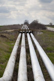 Industrial pipeline installation Stock Image