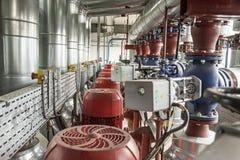 Industrial pipeline installation. Stock Image