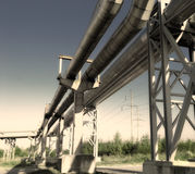Industrial pipelines Royalty Free Stock Images