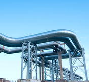 Industrial pipelines Royalty Free Stock Image
