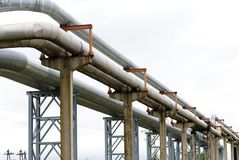 Industrial pipelines Stock Photo
