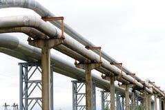 Industrial pipelines Stock Photo