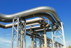 Industrial pipelines Stock Image
