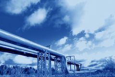 Industrial pipelines Stock Photos