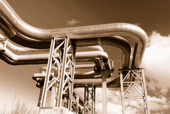 Free Industrial Pipelines On Pipe-bridge Stock Photography - 7135032