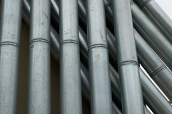 Industrial Pipes. Industrial looking rooftop pipes. New York City royalty free stock photos