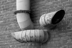 Industrial pipes Stock Image