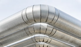 Industrial Pipes. Detail of industrial pipes Royalty Free Stock Photo
