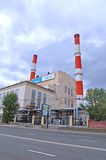 Industrial pipes heat electric station in Moscow Royalty Free Stock Photography
