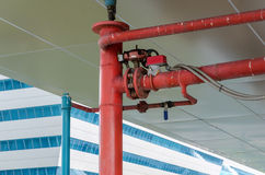 industrial pipes at plumbing on the building Royalty Free Stock Photo