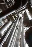 Industrial Pipes Reaching Upwards - Vertical Stock Image