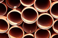 PVC pipes texture closeup stock image