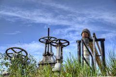 Industrial pipes and valves Stock Image