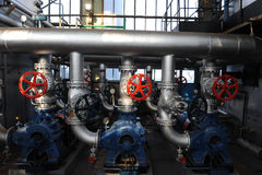 Industrial pipes and valves Royalty Free Stock Photo