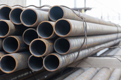 Industrial pipes on warehouse Royalty Free Stock Photos