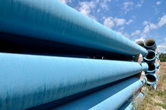 Industrial pipes for water transporting royalty free stock photography