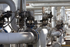 Industrial piping Royalty Free Stock Photos