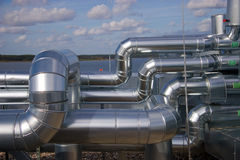 Industrial Piping Royalty Free Stock Images