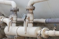 Industrial Piping And Valves Stock Photography