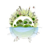 Industrial planet, environmental concept Stock Photography