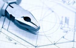 Industrial Planning Stock Photo