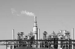 Industrial plant. Plant in the surroudings of Rotterdam royalty free stock photos