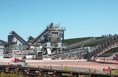 Industrial Plant. For mining of basic materials Royalty Free Stock Photography