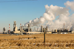 Industrial plant. Polluting the air Stock Images
