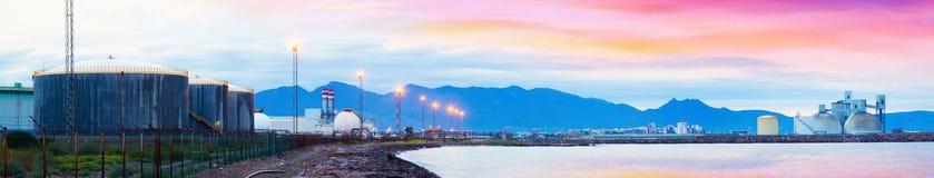 Industrial plant. Castellon de la Plana Royalty Free Stock Photos