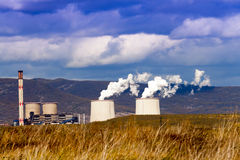 Industrial Plant chimneys. Stock Photography