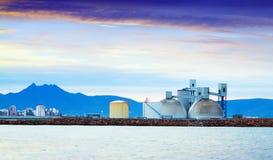 Industrial plant at coast. Castellon de la Plana Stock Photography