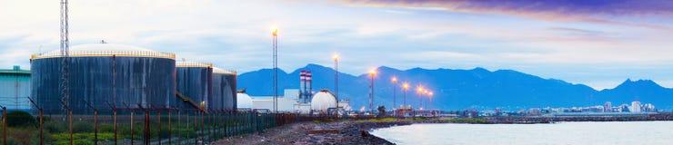Industrial plant at coast sea Royalty Free Stock Photos