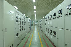 Industrial Plant Controls Royalty Free Stock Photos