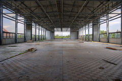 Industrial plant hall Stock Photo