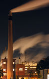Industrial plant at Night Royalty Free Stock Photography