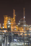Industrial plant in night time Stock Photo