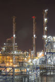 Industrial plant in night time Royalty Free Stock Photo