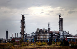 Industrial plant at oil refinery Stock Images