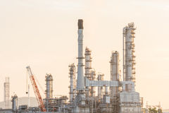 Industrial plant power station. And the sun light royalty free stock photo