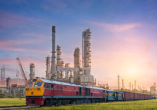 Industrial plant power station. And the sun light Royalty Free Stock Image