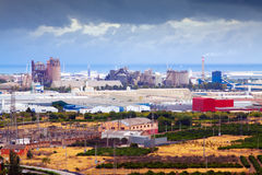 Industrial plant. Puerto de Sagunto Royalty Free Stock Images