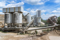 Industrial plant in a quarry Royalty Free Stock Photo