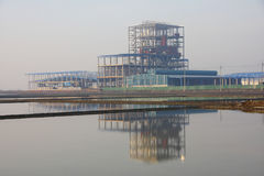 Industrial plant and reflection,  Thailand. Stock Images