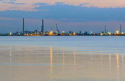 Industrial plant and sea Royalty Free Stock Photography