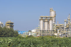 Industrial plant with silos Stock Images