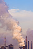 Industrial plant with smoke Stock Image
