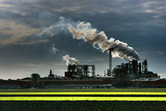Industrial plant smoke Stock Photography