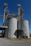 Industrial plant with storage containers and walkways Stock Image